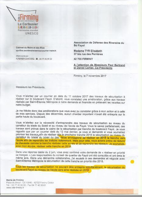1 Lettre  du Maire 7 novembre 2017