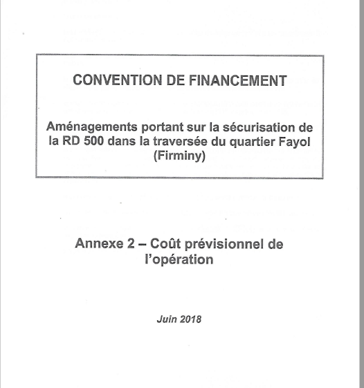 Convention de financement p1