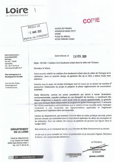 Courrier cd 42 a mr le maire 26 02 2020