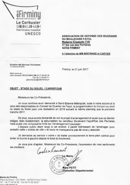 Courrier de mr le maire 21 06 2017
