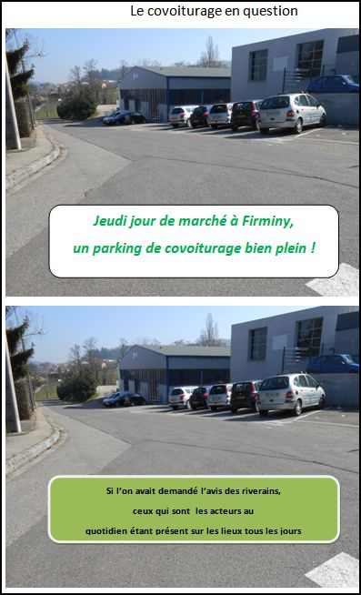 Le parking de covoiturage fayol
