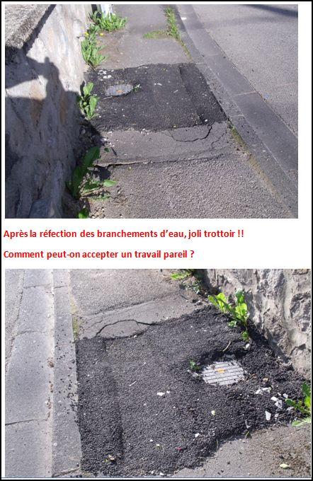 Les trottoirs apres les travaux