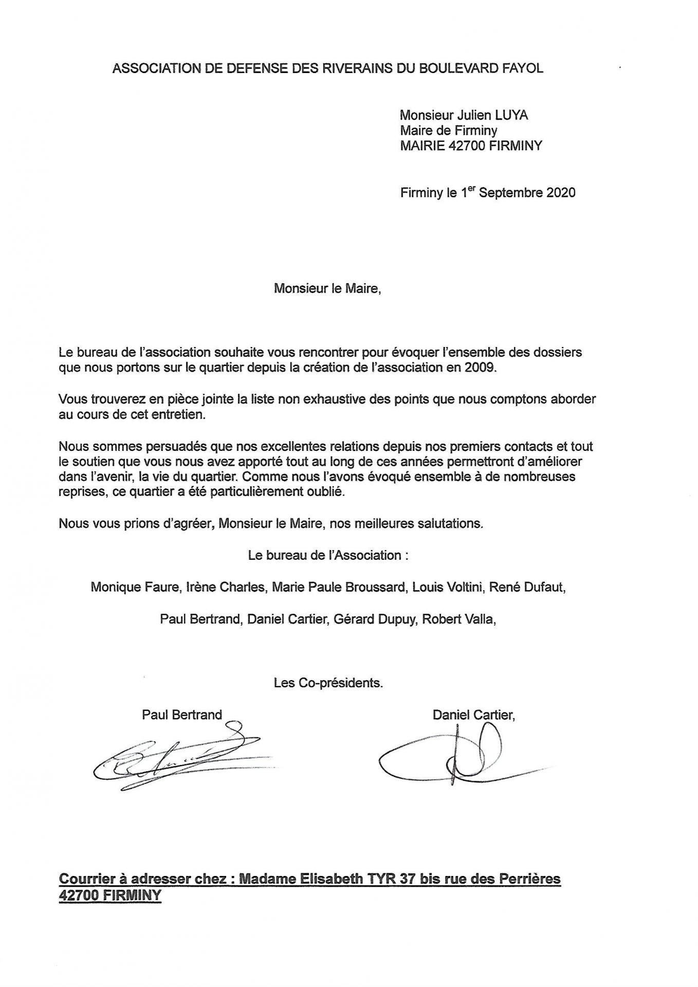Lettre au maire 01 09 2020