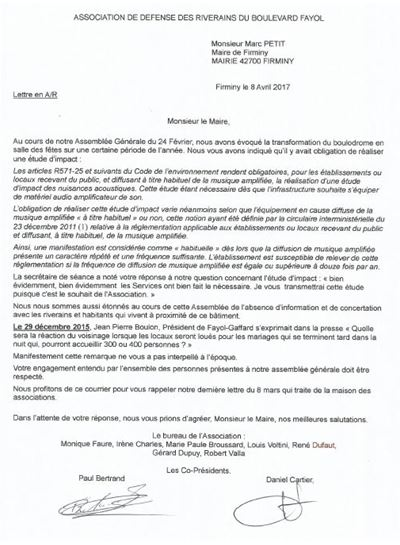 Lettre au maire 08 04 2017 site