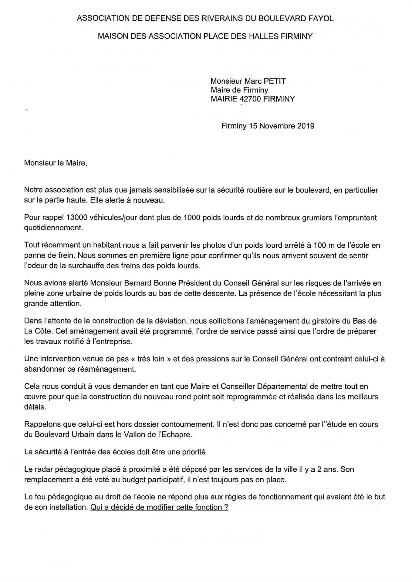 Lettre au maire de firminy p1