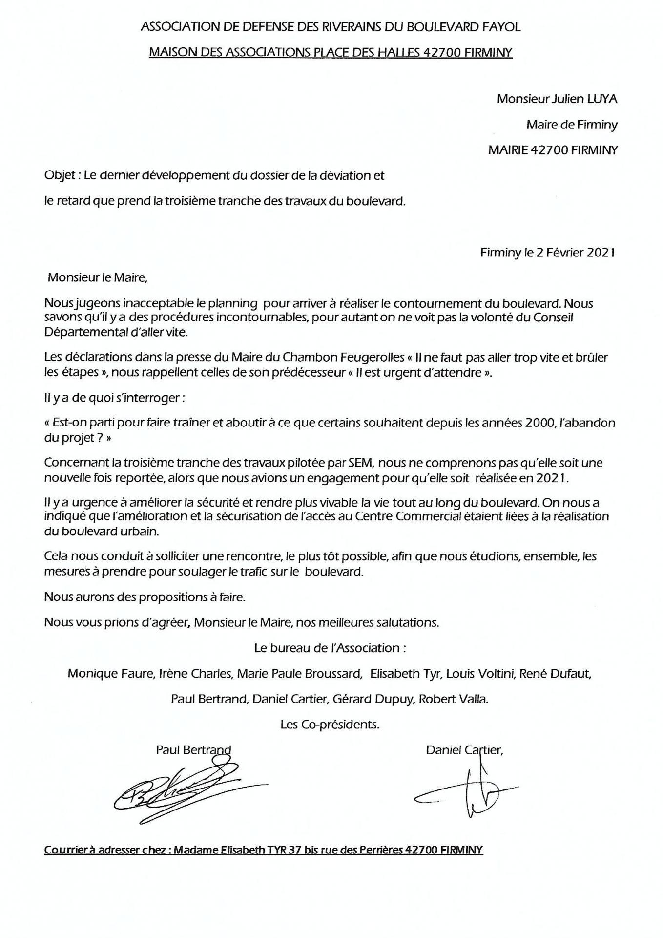 Lettre au Maire J. Luya 02 02 2021 JPG