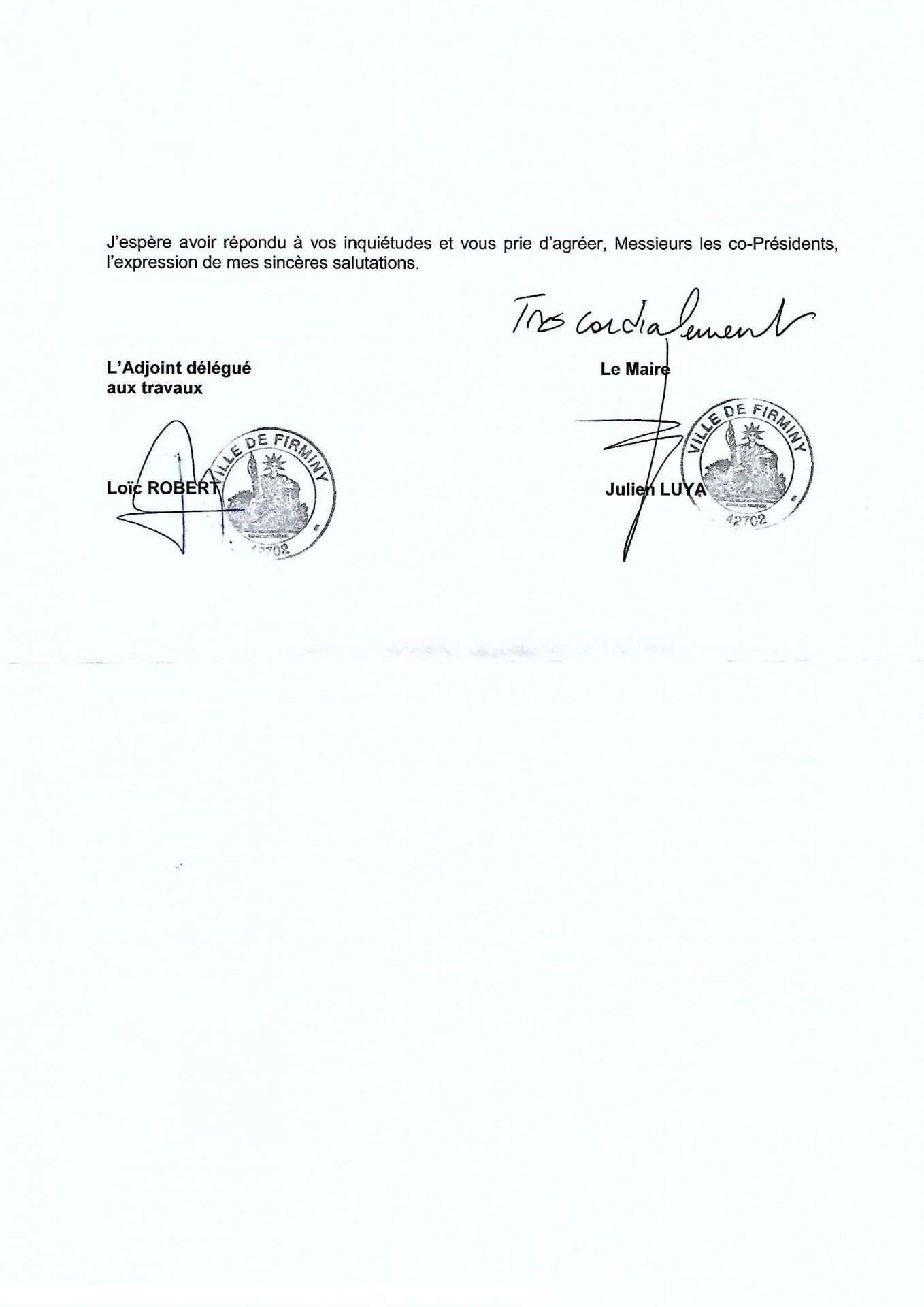 Lettre Mr le Maire 01/ 06/ 2022 p2