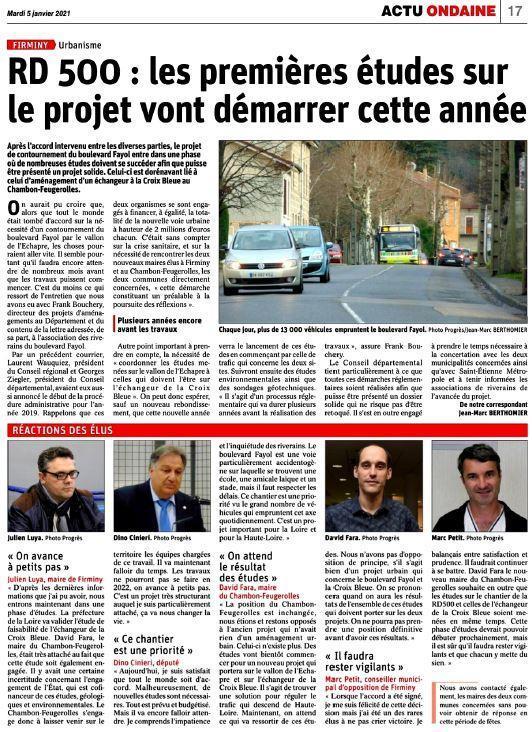 Photo site le Le Progres 05 01 2021